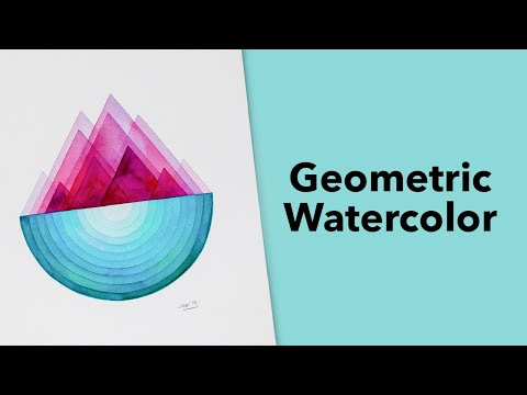 Geometric Watercolor Tutorial with Carrie Chan 🖌 thumbnail
