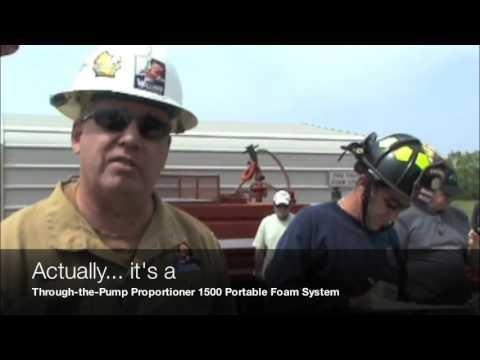 Rocklin Fire Department Foam Tender Setup