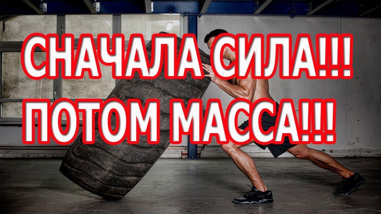 СНАЧАЛА СИЛА!!! ПОТОМ МАССА!!!