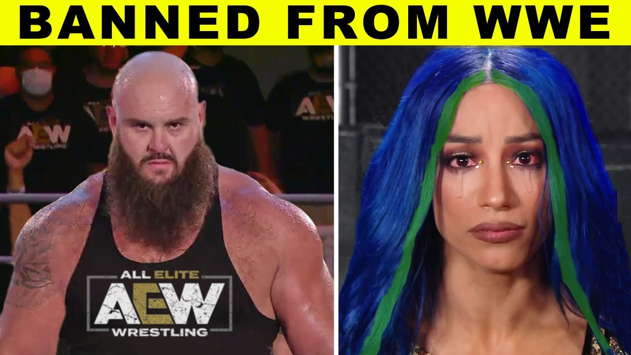 5 Wrestlers BANNED From WWE Forever - Braun Strowman & Sasha Banks