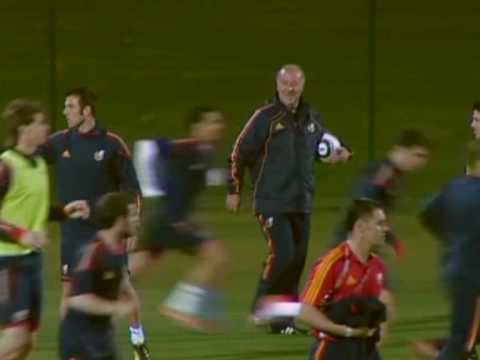 FIFA World Cup 2010 - Spain exclusive training footage ahead of Germany semi final