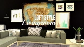 The Sims 4 Room Build — Loft Style Livingroom- Newcrest