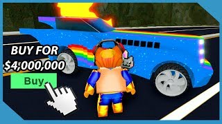 Buying the Night Rider Car in Roblox Mad City ($4,000,000 Car)