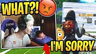 Ninja's Wife Got EMBARRASSED by Swearing Live on His Stream! - Fortnite Best and Funny Moments