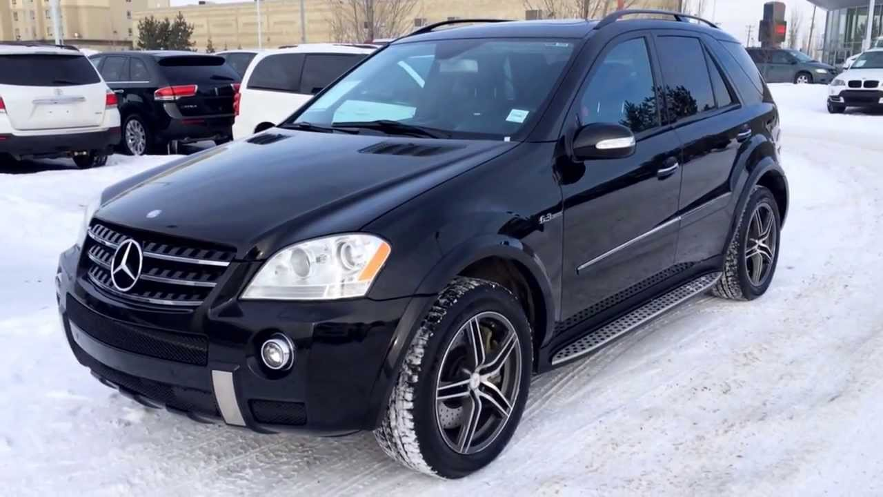 Pre owned black 2008 mercedes benz ml63 amg calgary