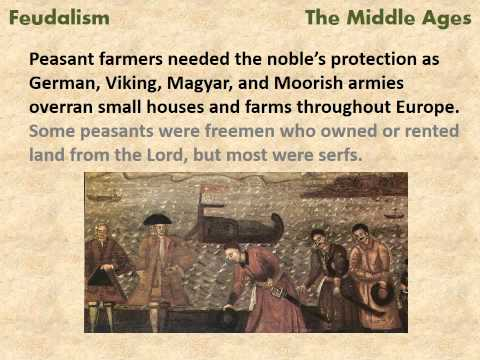 Feudalism in the Middle Ages - a reading lesson for kids