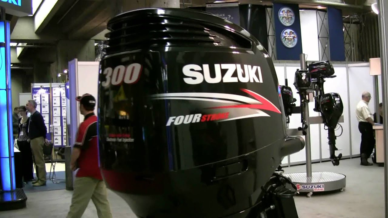 2012 suzuki 300hp engine at 2012 montreal boat show salon for Suzuki outboard motor dealers