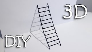 - DIY 3D Ladder How To Draw Ladder Optical Illusion