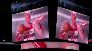 Washington Wizards Jumbotron Opening Segment 11/9/2016
