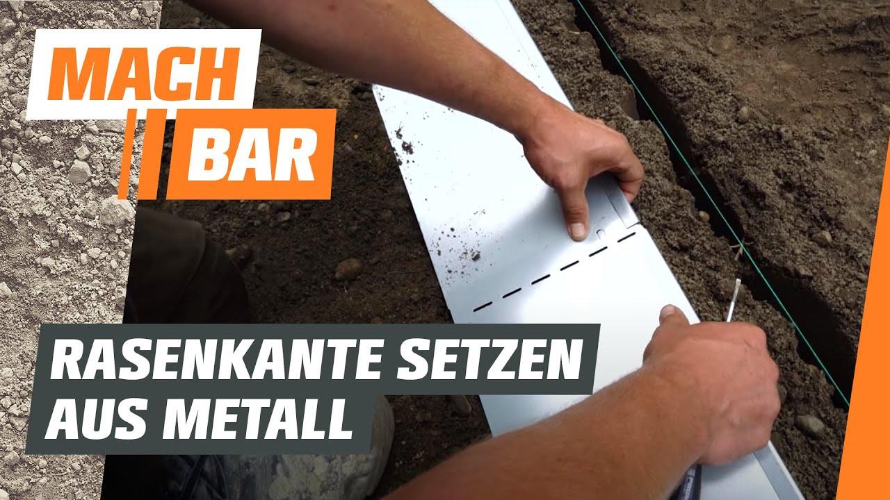 Fabelhaft Rasenkante aus Metall einbauen | OBI - YouTube @ZL_76