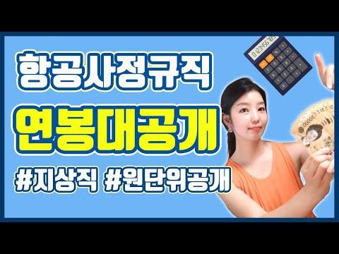 항공사 지상직 월급통장 대공개 /항공사 정규직 연봉/ 원단위 공개