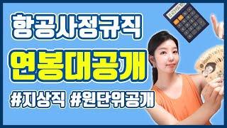 항공사 지상직 월급통장 대공개 /항공사 정규직 연봉/ …