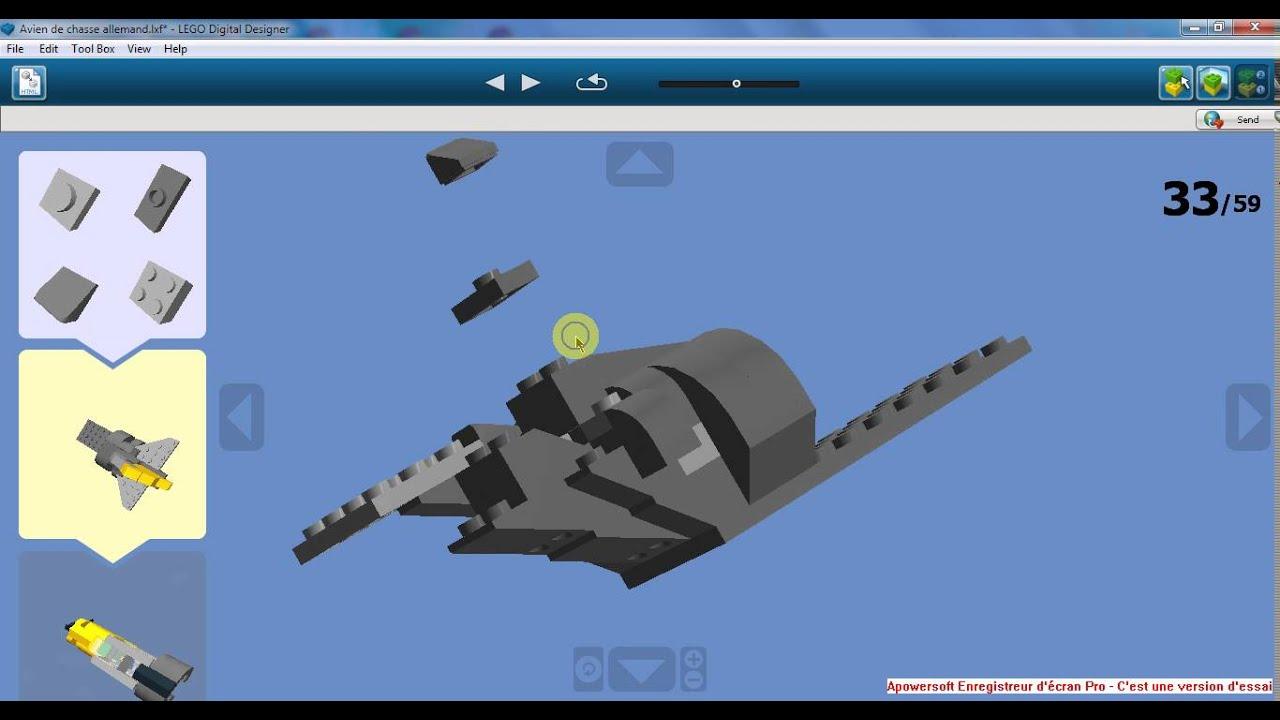 Lego avion de chasse allemand messerschmitt bf109 youtube - Avion de chasse en lego ...