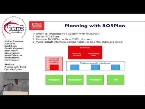 "ICAPS 2015: ""ROSPlan: Planning in the Robot Operating System"""