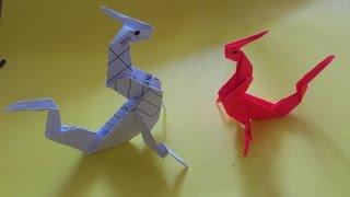 Cara Membuat Origami Naga Mushu Mulan | Origami Binatang