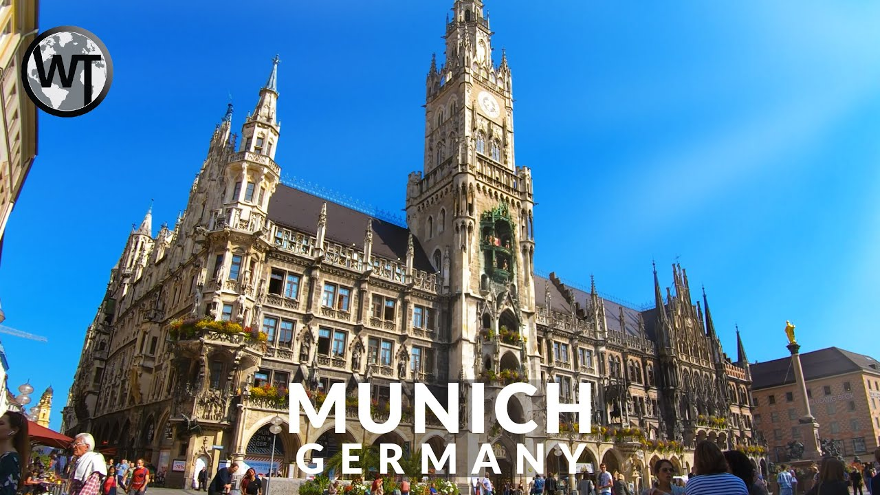 Munich Historic City Centre - Binaural Audio - 4K Walking Tour