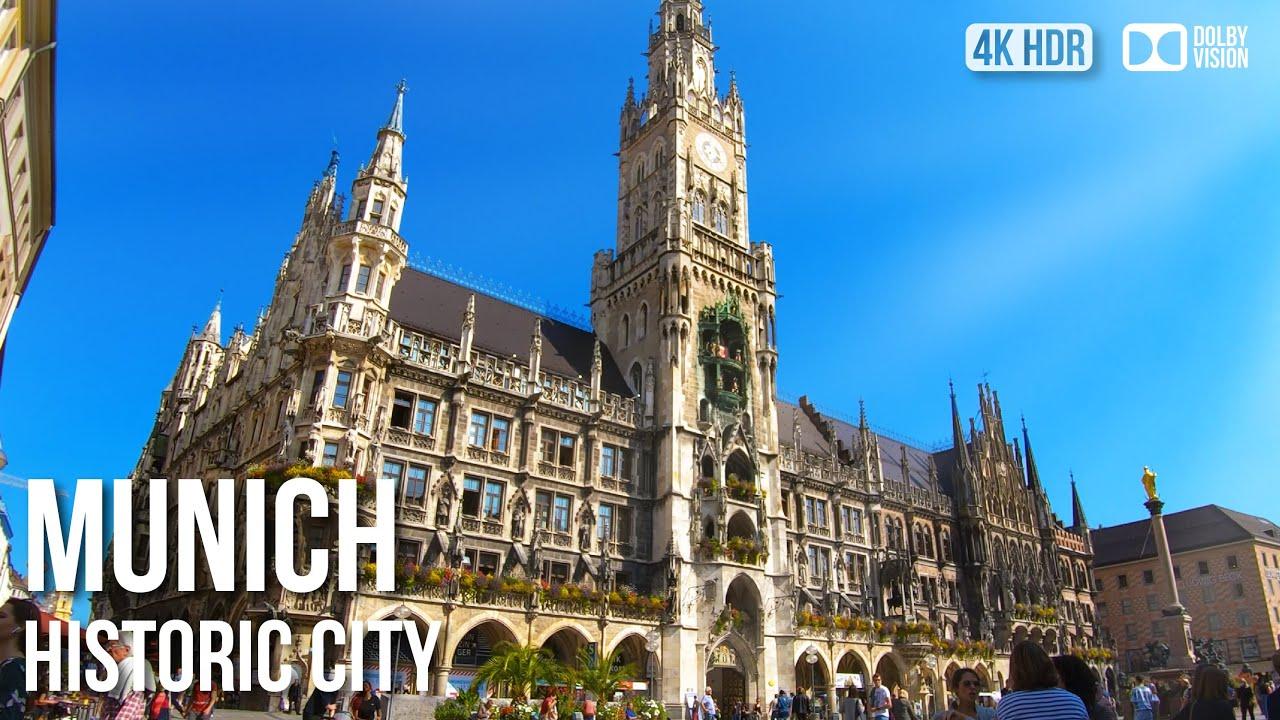Munich Historic City Centre - Binaural Audio - 4K Walking Tour
