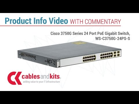 Product Info: Cisco 3750G Series 24 Port PoE Gigabit Switch