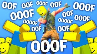 Fortnite Dances But With The Ooof Sound..! (Roblox Death Sound) pt.2