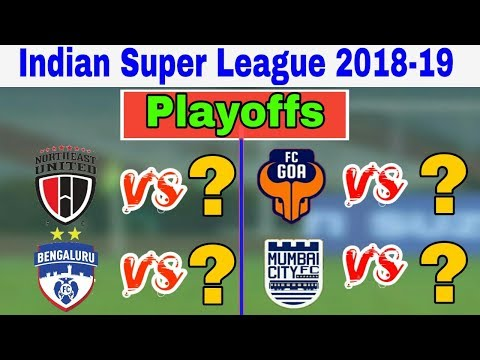ISL 5 Playoffs Matches Schedule Analysis | NEUFC vs ? | BFC vs  ? | FC Goa vs  ? | MCFC vs  ? |