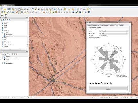 Extracting geological faults and orientation representation in QGIS with GeoTrace - Tutorial