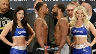 ERROL SPENCE VS. LAMONT PETERSON FULL WEIGH IN & FACE OFF VIDEO
