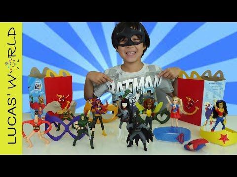 ALL DC Comics HAPPY MEAL McDonalds Surprise Toys JUSTICE LEAGUE & SUPERHERO GIRLS Figures FULL SET!