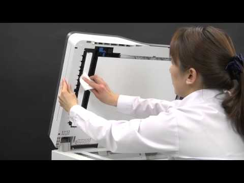 [MC800 series] Cleaning the Document Glass.