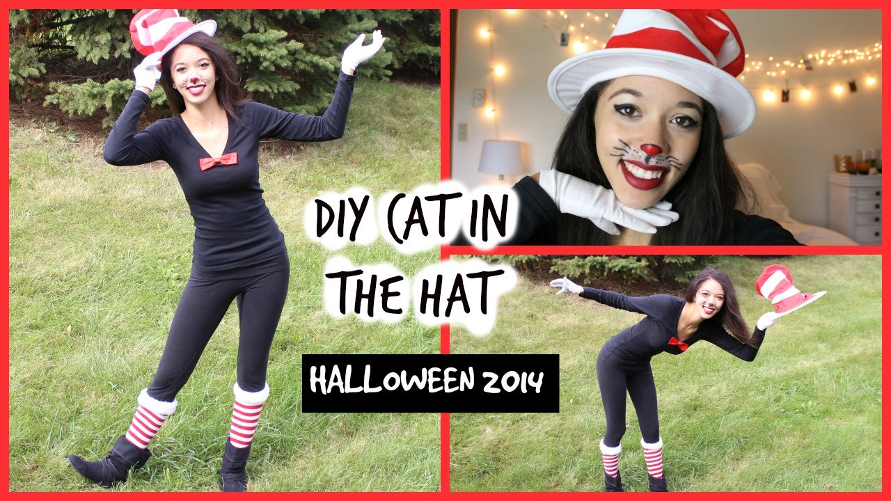 diy halloween costume: cat in the hat! - youtube