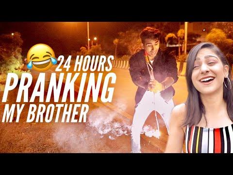 PRANKING MY BROTHER for 24 Hours | Rimorav Vlogs - YouTube
