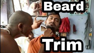 Family barber beard trim by village barber  //asmr