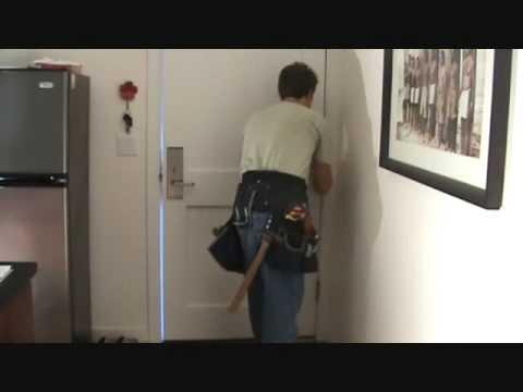 how to fix squeaky door hinges youtube. Black Bedroom Furniture Sets. Home Design Ideas