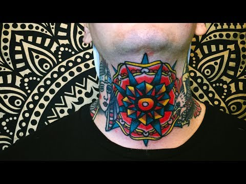 TRADITIONAL THROAT TATTOO
