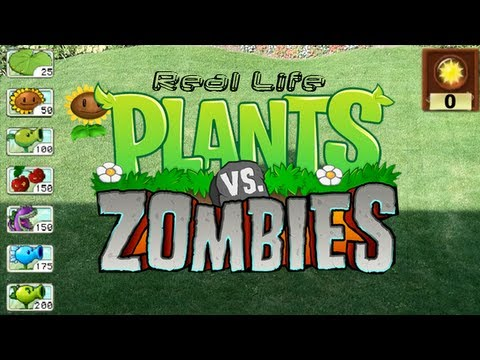 Real Life Plants vs Zombies