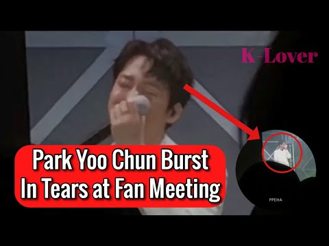 (TRENDING) Park Yoo Chun Breaks Down In Tears At First Fan Meeting Due To Fans Love & Support