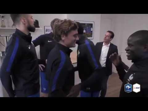 Ludovic G. Fête l'anniversaire d'Antoine Griezmann avec les bleus
