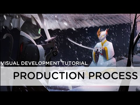 Production Process for an Image- Digital Painting Tutorial