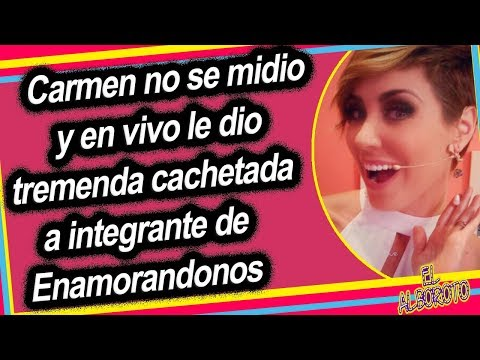 Carmen Muñoz da cach3tad4 a integrante de Enamorandonos en vivo