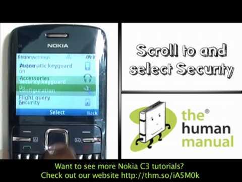 setting a phone lock nokia c3 the human manual youtube rh youtube com manual nokia 3310 manual de usuario nokia c3