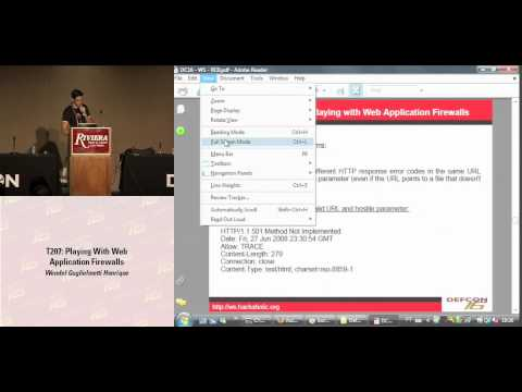 DEFCON 16: Playing with Web Application Firewalls
