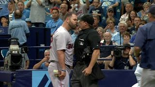 BOS@TB: Napoli tossed after disputing strikeout call