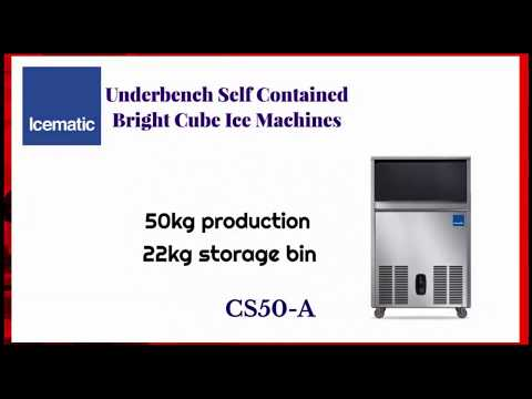 ICEMATIC Underbench Self Contained Bright Cube Ice Machines