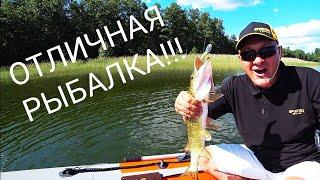 Ловля щуки на спиннинг! Хорошая рыбалка!