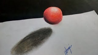 How to Draw 3d Floating Sphere || Soft Pastels Tutorial