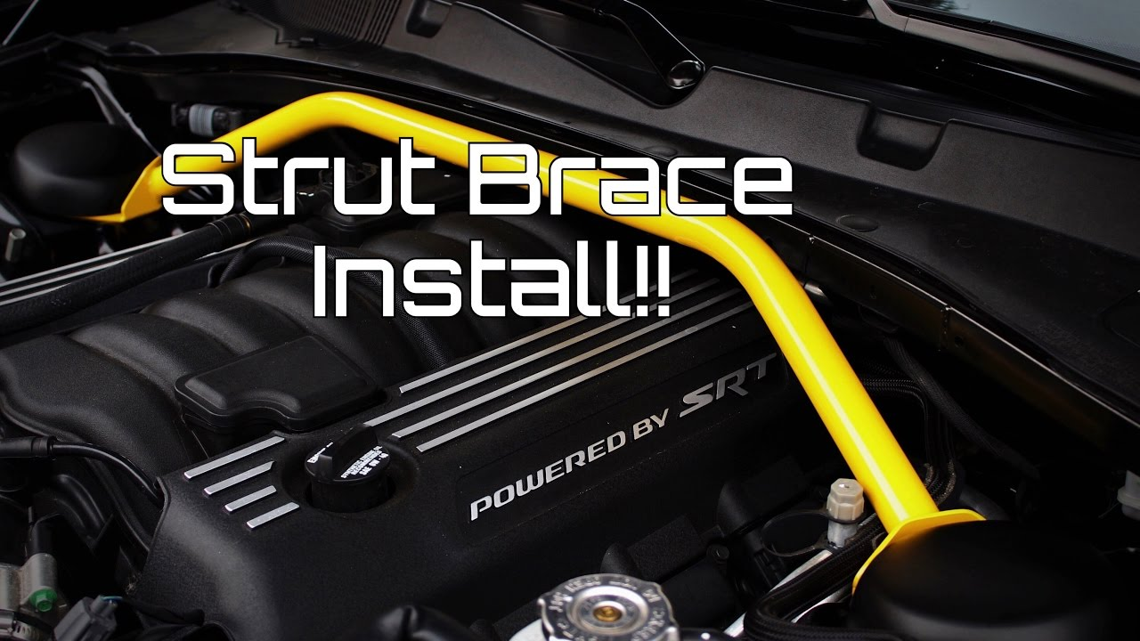 hight resolution of petty s garage strut tower brace installation dodge charger scat pack