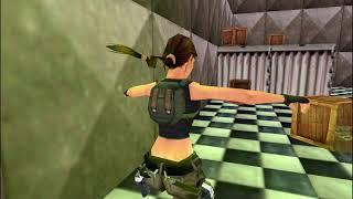 Tomb Raider IV Custom Level Speedrun - The Base 0:45