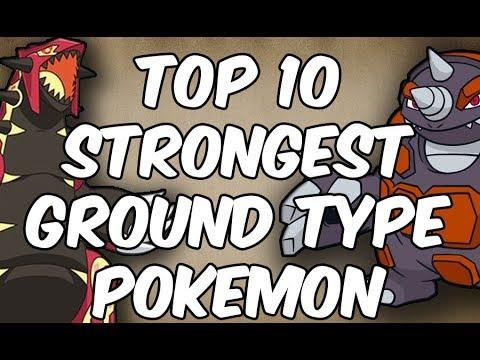 Top 10 Strongest Ground Type Pokemon
