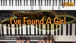 The Vamps - I Found A Girl ft. Omi Easy Piano Tutorial Cover Song Backtrack FREE Sheet Music