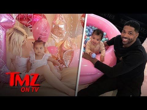 Khloe Kardashian Tristan Thompson Reunite for True&39;s 1st Birtay Bash  TMZ TV