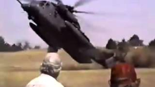 Sikorsky HH-53B Pave Low  - tail strike accident, Vance AFB, Oklahoma 1996 (later conv. to MH-53)